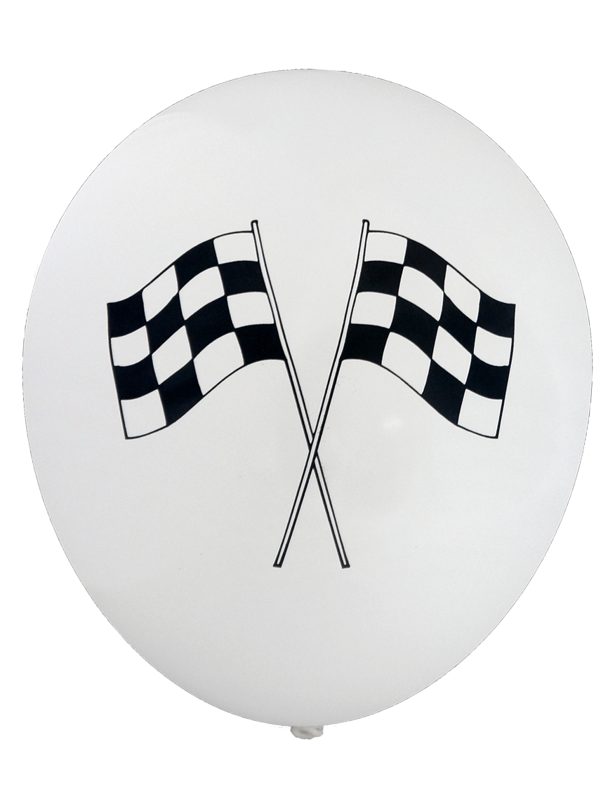 Pre printed balloons chequered flag 30cm 12pk 1825 647 pre printed balloons chequered flag 30cm 12pk buycottarizona Image collections