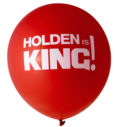 Pre-Printed Balloons - Holden Is King (30cm, 12pk)