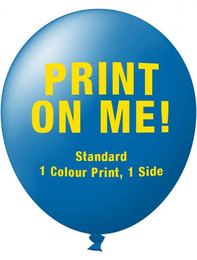Custom Printed Balloons (30cm Standard, 1 colour print, 1 side)