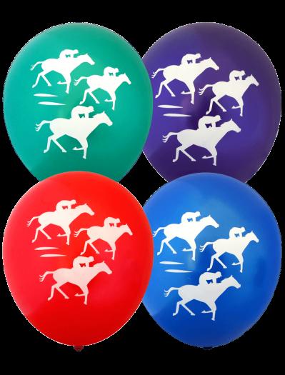 Racehorse Balloons (30cm, Metallic Balloons, 12pk)