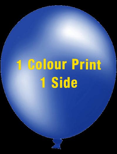 Custom Printed Balloons (30cm Metallic, 1 colour print, 1 side)