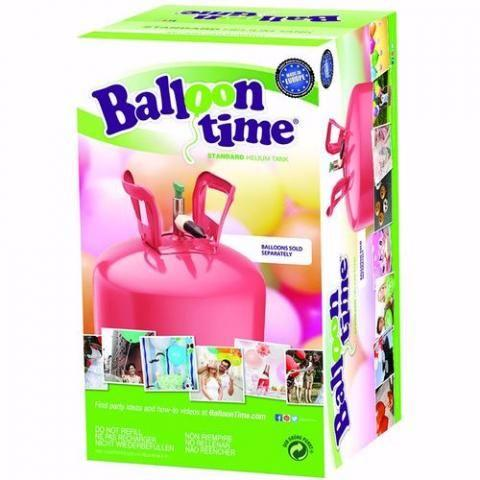 Balloon Helium Tank, Disposable with ribbon roll (30)