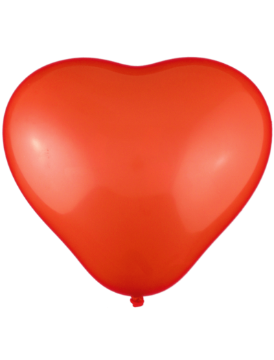 Unprinted Balloons - 30cm Heart Shape (Packs of 100)
