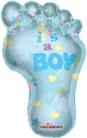 It's A Boy - Footprint Foil Balloon (91cm, single pk)