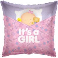 Sleeping Baby Girl Foil Balloon (45cm, single pk)