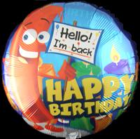 Big Candle Happy Birthday Foil Balloon (45cm, single pk)