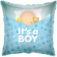 Sleeping Baby Boy Foil Balloon (45cm, single pk)