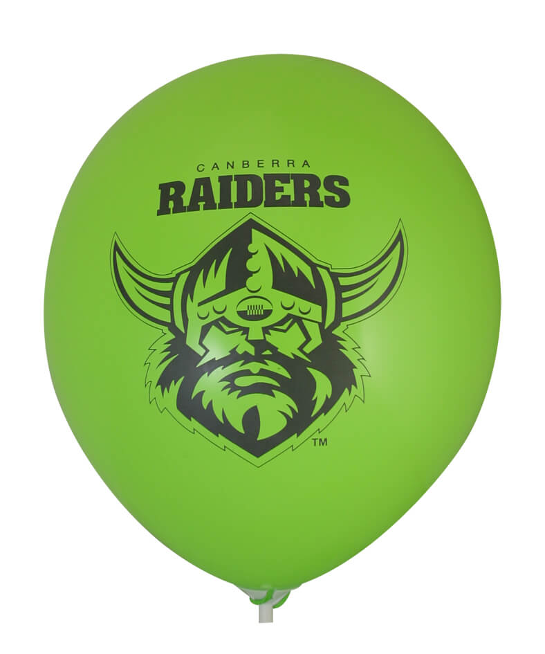 Pre-Printed Balloons - Raiders Supporter Balloons (30cm, 25pk)
