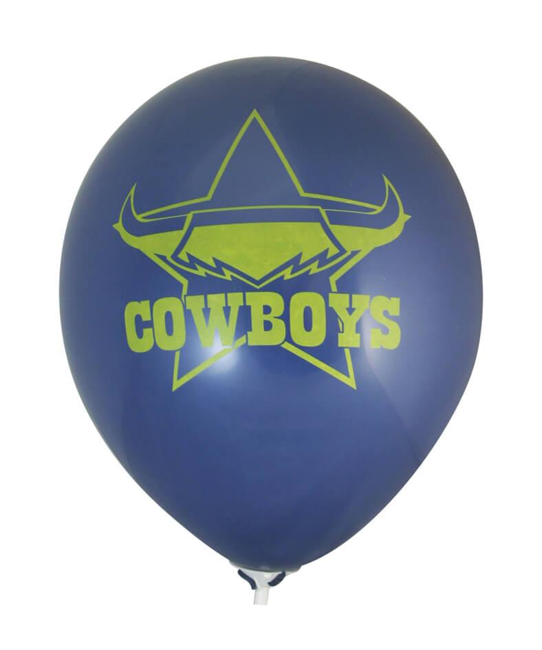 Pre-Printed Balloons - Cowboys Supporter Balloons (30cm, 25pk)