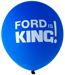 Pre-Printed Balloons - Ford Is King (30cm, 12pk)