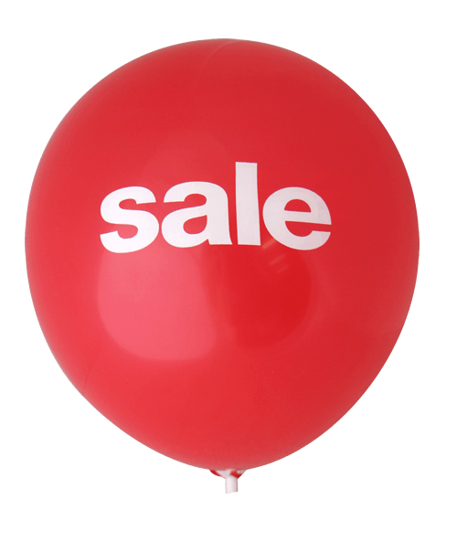Sale Balloons (30cm, 2 Side Print, 40pk)