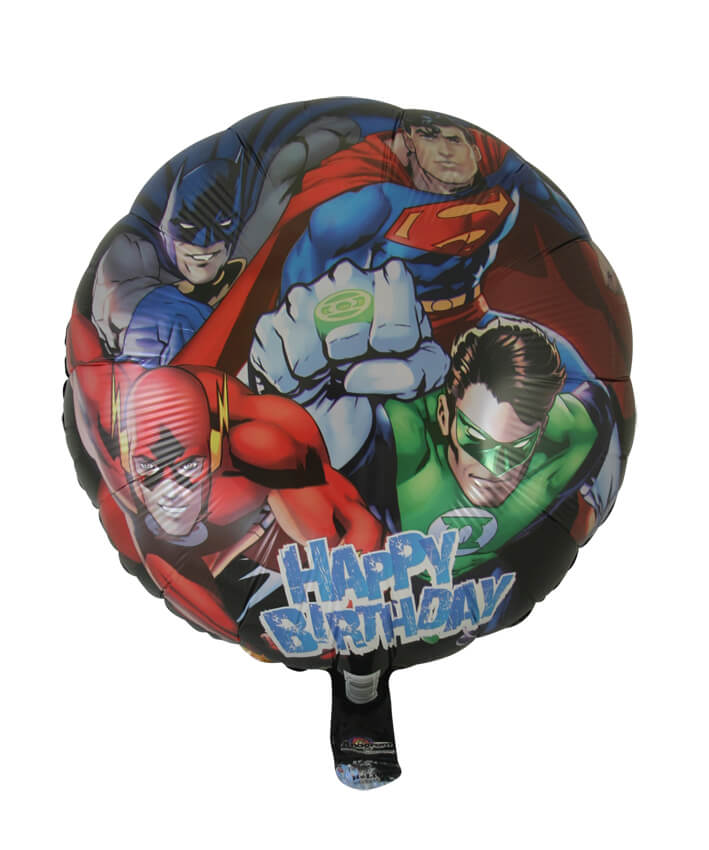 Justice League Happy Birthday Foil Balloon (45cm, single pk)