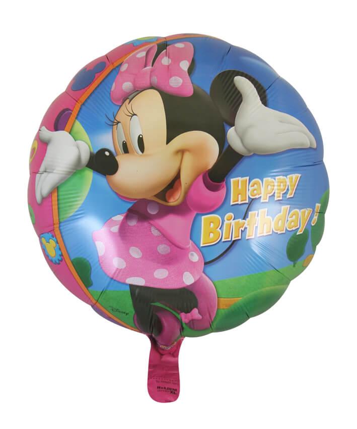Minnie Mouse Happy Birthday Foil Balloon (45cm, single pk)