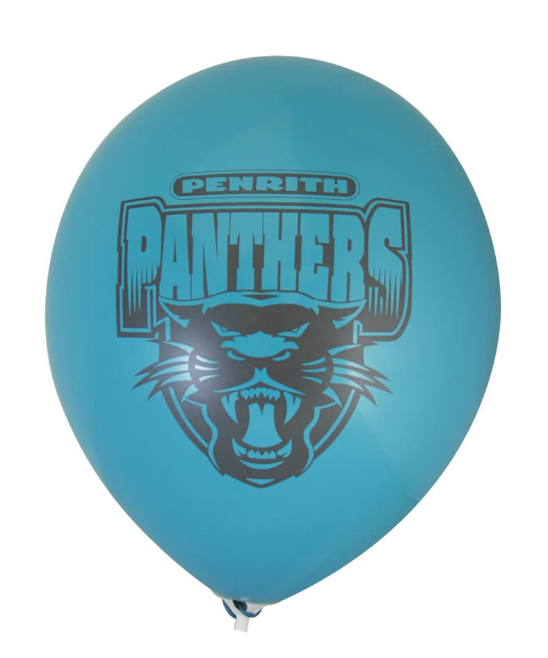 Pre-Printed Balloons - Panthers Supporter Balloons (30cm, 25pk)
