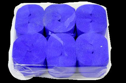 Crepe Streamer, 35mmx13m, Royal Blue, 6pk