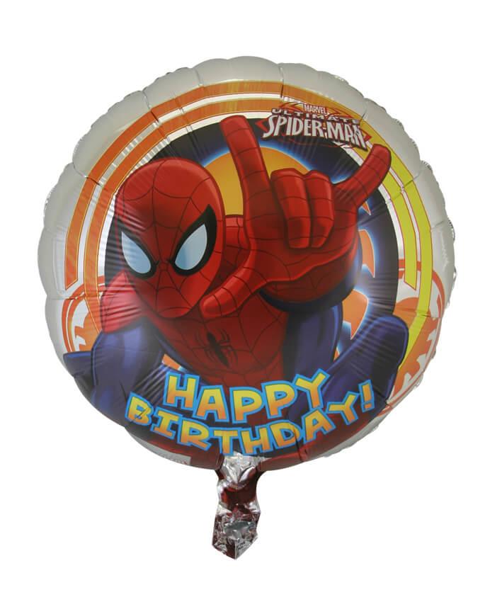 Spiderman Happy Birthday Foil Balloon (45cm, single pk)