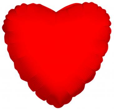 Heart Shaped Red Foil Balloon (45cm)
