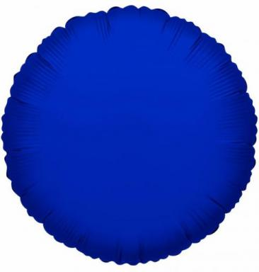Round Royal Blue Foil Balloon (45cm)