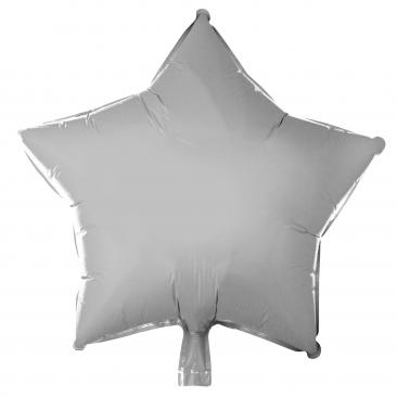 Star Shaped Silver Foil Balloon (45cm)