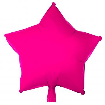 Star Shaped Hot Pink Foil Balloon (45cm)