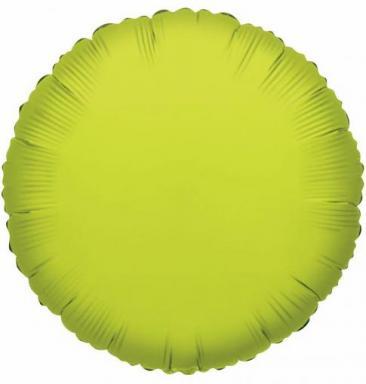 Round Lime Green Foil Balloon (45cm)