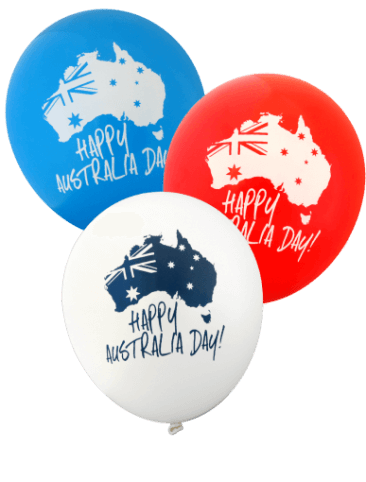 Happy Australia Day Balloons (30cm, Assorted Colour, 12pk)