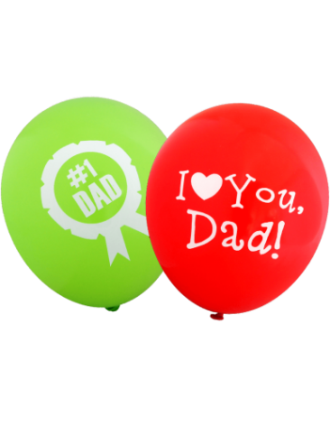 Assorted Father's Day Balloons (30cm, Assorted Colours, 12pk)