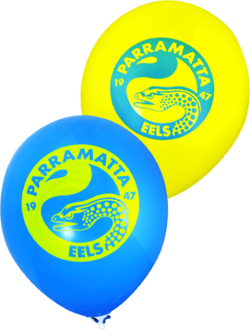 Eels Supporter Balloons (30cm, Blue and Yellow, 25pk)