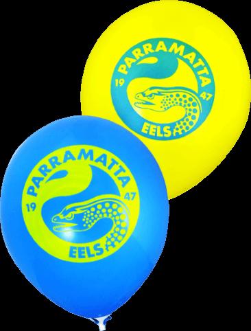Pre-Printed Balloons - Eels Supporter Balloons (30cm, 25pk)