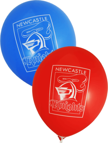 Knights Supporter Balloons (30cm, Blue and Red, 25pk)