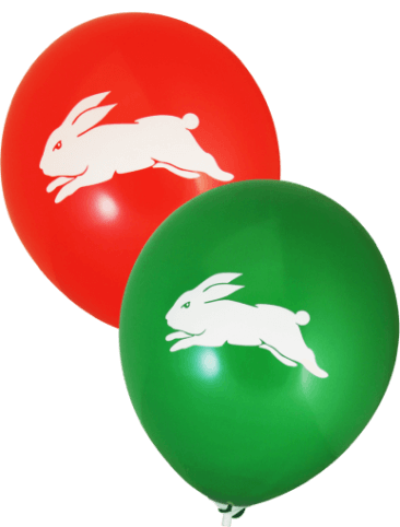 Rabbitohs Supporter Balloons (30cm, Green and Red, 25pk)