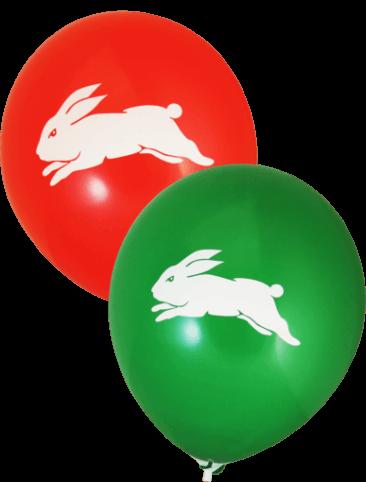 Pre-Printed Balloons - Rabbitohs Supporter Balloons (30cm, 25pk)