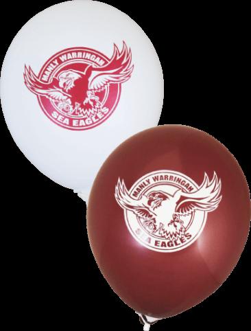 Pre-Printed Balloons - Sea Eagles Supporter Balloons (30cm, 25pk)