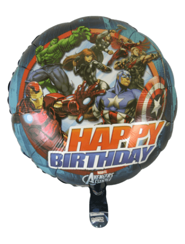 Avengers Happy Birthday Foil Balloon (45cm, single pk)