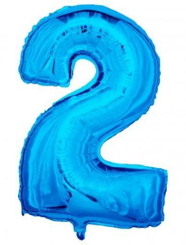 Blue Number - 2 (86cm, single pk)