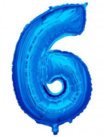 Blue Number - 6 (86cm, single pk)