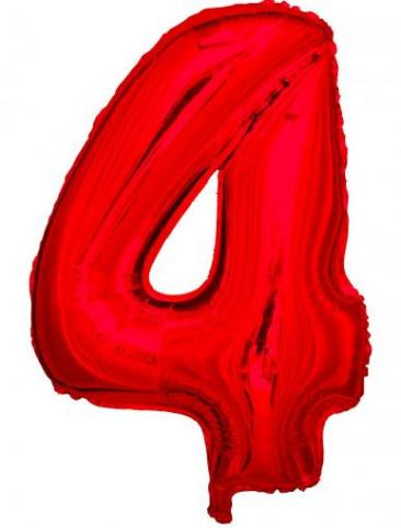 Red Number - 4 (86cm, single pk)