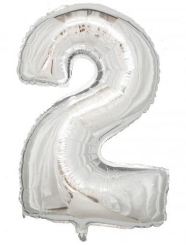 Silver Number - 2 (86cm, single pk)