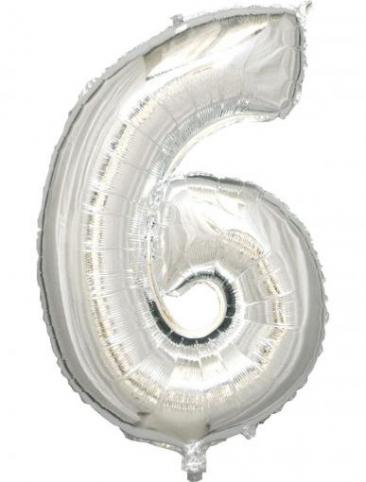 Silver Number - 6 (86cm, single pk)