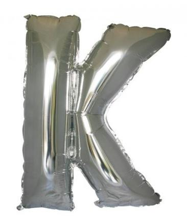 Letter K (86cm, Silver, single pk)