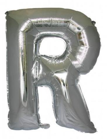 Letter R (86cm, Silver, single pk)