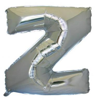 Letter Z (86cm, Silver, single pk)