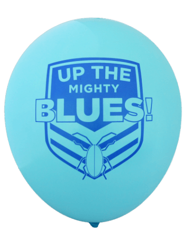 Pre-Printed Balloons - NSW State of Origin, Go The Mighty Blues (30cm, 25pk)