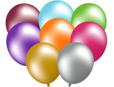 Unprinted Balloons - 30cm Metallic (packs of 100)