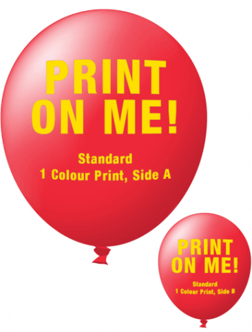 Custom Printed Balloons (30cm Standard, 1 colour print, 2 sides)