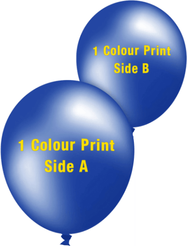 Custom Printed Balloons (30cm Metallic, 1 colour print, 2 sides)