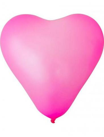Unprinted Balloons - Heart Shaped (25cm, packs of 100)