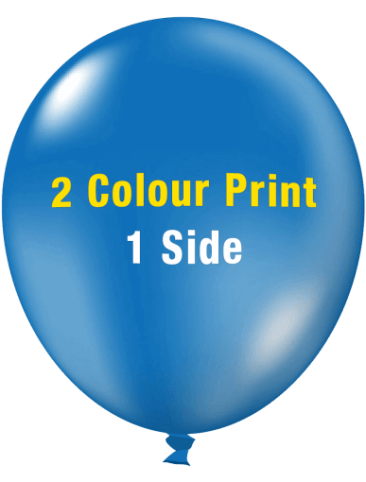 Custom Printed Balloons (30cm Crystal, 2 colour print, 1 side)