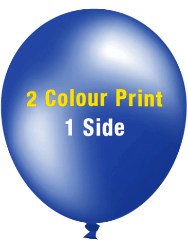 Custom Printed Balloons (30cm Metallic, 2 colour print, 1 side)