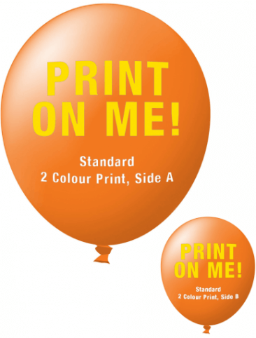 Custom Printed Balloons (30cm Standard, 2 Colour Print, 2 Sides)